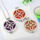 NEW Hollow out Flower Open Aromatherapy Noctilucent Pendant Necklace