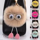 Внешний вид - Rabbit Fur Fluffy Pompom Ball Handbag Car Pendant Handbag Key Chain Keyrings
