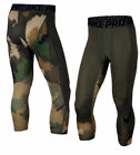 Nike Pro HYPERCOOL Green Camo Training Compression Pants Tights 904632 325