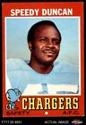 1971 Topps #148 Speedy Duncan Chargers EX $1.0 USD
