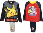 Pokemon Pyjamas Set Kids Picachu Nightwear Age 5 6 7 8 9 10 11 12 Years