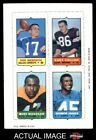 1969 Topps 4-in-1 Football Stamps Don Meredith / Gary Collins / Marv Woodson  EX