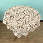 Vintage Handmade Crochet Placemat Tablemat Floral Hollow Square Sofa Table Cloth
