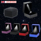 LED Lighted Earring Ring Gift Box Wedding Engagement Ring Jewelry Display UK SA