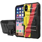 "For iPhone X Defender Combat Case Holster/KickStand [5.8"" Screen Protector] - G"
