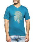 Clifton Men's Printed Half Sleeve V-Neck T-Shirt-Corsair-Tribe-1
