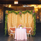 Sparkly Gold Silver Sequin Wedding Party Backdrop Photo Curtain Photography 4x6