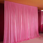 Wedding Party Backdrop Pink Background Decor Curtain Drapes Studio Draping