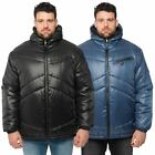 Kangol Mens Plus Size Zip Up Puffer Jacket Hooded Quilted Bubble Winter Big Coat