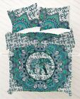 Indian Elephant Mandala Duvet Doona Cover Queen Size Bedding Set Boho Comforter