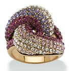 Purple SWAROVSKI ELEMENTS Crystal Gold Ion-Plated Knot Ring image