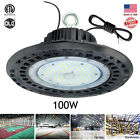 100W High Bay LED Light Fixture Warehouse Gym Shop Factory Garage Workshop Lamp