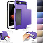 iPhone X 8 7 Plus Case Protective Wallet ID Credit Card Holder Shockproof Cover