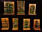 Religious Statues Deity's Ornaments carved out of wood in 6 Assorted colours