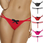 Womens Sexy Stripper Soft Thong G string Pure Colour Ladies Panties Panty New