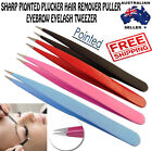 Professional eyebrow eyelash tweezers sharp pointed plucker hair remover puller