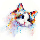 5D DIY Cross Stitch Watercolor Painting Cat Diamond Painting Home Decor