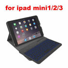Case Cover With Wireless Bluetooth LED Backlight Keyboard for iPad mini 1 2 3 4
