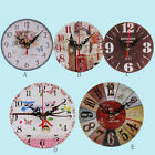 Non-Ticking Silent Vintage Style Antique Wood Wall Clock For Home Kitchen Office