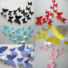 room wall stickers - 24pcs 3D DIY Butterfly PVC Art Decal Home Decor Kids Room Wall Mural Stickers