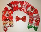 Bow Tie Christmas  colours for Dog slip on collar