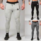 Fitness Casual Elastic Pants Stretch Cotton Men's Jogger Bodybuilding Trousers