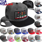 California Baseball Cap CALI Republic Bear Snapback Hat Flat Bill Colors Hat New