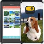 Cute Lovely Dog Cat Puppy Design Slim Hybrid Armor Case for Nokia Lumia 730 735