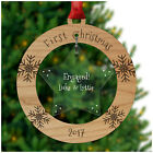 ENGAGED Christmas Tree Decoration First 1st Xmas Together Engaged Couple Baubles