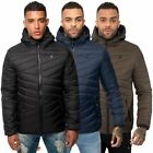 Kangol Mens Zip Up Puffer Jacket Toggle Collared Winter Quilted Hooded Coat