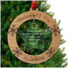 CHRISTMAS Tree Decoration In Memory Memorial ANY NAME Heaven Love Remembrance