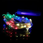 10 20 30 LED Battery Power Operated Copper Wire Mini Fairy Lights String Xmas