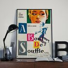 Godards A Bout De Souffle AKA Breathless Movie Film Poster Print Picture A3 A4