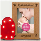 My First Christmas 1st Xmas Photo Frame PERSONALISED ANY NAME Newborn Gifts Baby