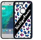 PERSONALIZED RUBBER CASE FOR GOOGLE PIXEL & PIXEL XL WATER COLOR LEOPARD SPOTS