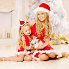 STOCK Xmas Family Clothes Mother Daughter Dress Women Kids Girl Party Mini Dress