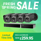 Zmodo 4CH/8CH NVR 1080p HD Outdoor Home Security Camera System,sPoE Repeater