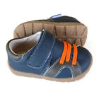 Jaxon real Leather toddler shoes app1-3yr navy blue walker trainer boy baby kids