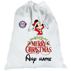 Personalised Mickey Mouse SANTA SACK Disney Bag Merry Father Christmas Xmas