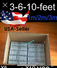 Lot 10 Pack 3-6-10 Ft Long Usb Data Cable Charger Iphone5/5s/5c/6/6s/6+7 8pin