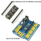 Arduino Mini USB Nano V3.0 4.0 ATmega328 5V +Nano I / O Expansion Sensor Shield