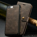 Leather Removable Wallet Magnetic Flip Card Slot Case Cover For iPhone X