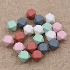 10-50pcs DIY Necklace Chewable Teether Hexagonal beads Silicone for Baby 14mm