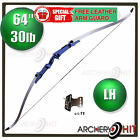 Blue Jazz 30 lb Recurve Take-Down Bow Left Hand Archery Target Shooting