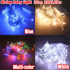 200/300/400/500/600 LED Fairy String Lights Xmas Garden Tree Outside Waterproof