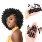 """8"""" Long Afro Kinky Wavy Crochet Synthetic Women Braided Hair Extension 1 Pack"""