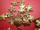 25-50 Antique gold dainty flower charms - crafts & jewellery making 12 x 10 mm