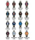 Pro Football Superbowl Variety Team Logo Steel Sport Metal Analog Wrist Watch #1 on eBay
