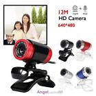 USB 2.0 1080P HD WebCam Web Camera Video with Mic 360 for MSN Skype Desktops PC
