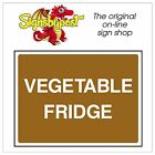 Vegetable Fridge food sign HSE Health Safety FOO61 30cm x 40cm Sign or Sticker